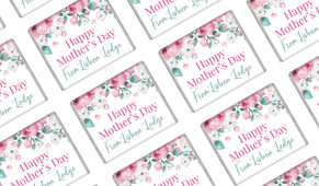 Falling Petals Mother's Day Custom Mini Chocolates