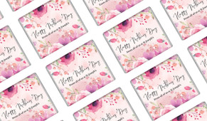 Floral Watercolour Mother's Day Custom Mini Chocolates