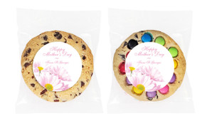 Pink Daisies Mother's Day Custom Day Giant Cookie