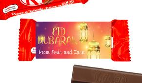 Early Sunrise Eid Mubarak Custom 2-Finger Kit Kat