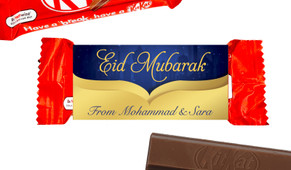 Gold City Eid Mubarak Custom 2-Finger Kit Kat