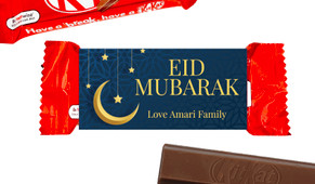 Moon On Navy Eid Mubarak Custom 2-Finger Kit Kat