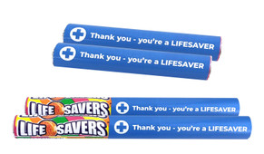 Personalised Nurses Day Lifesaver Tingles 34g