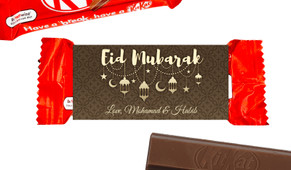Gold Lanterns Eid Mubarak Custom 2-Finger Kit Kat