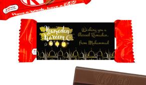 Mosque Eid Mubarak Custom 2-Finger Kit Kat