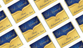 Gold City Personalised Eid Mubarak Mini Chocolates