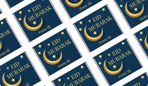 Moon on Navy Personalised Eid Mubarak Mini Chocolates