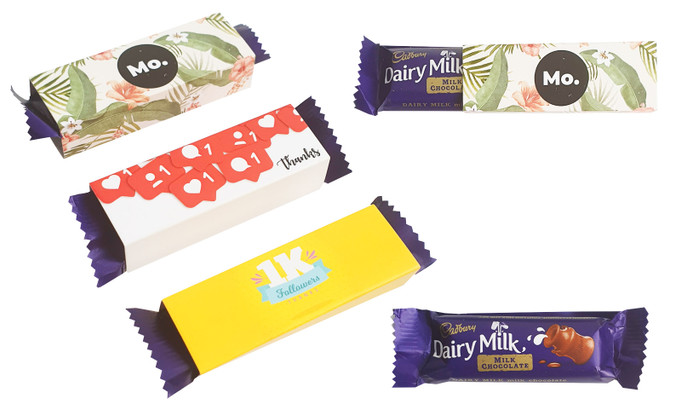 Cadbury TM 12g Mini Chocolates With Personalised Sleeve (Pack Of 15)