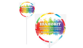 IDAHOBIT 7cm Personalised Lollipops