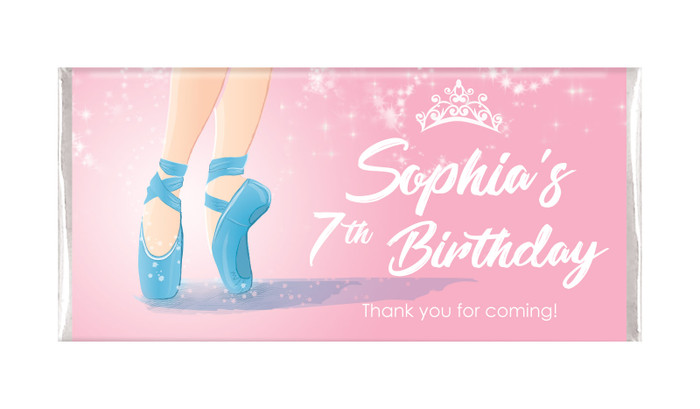 Ballet Shoes Personalised Birthday Chocolate Bar