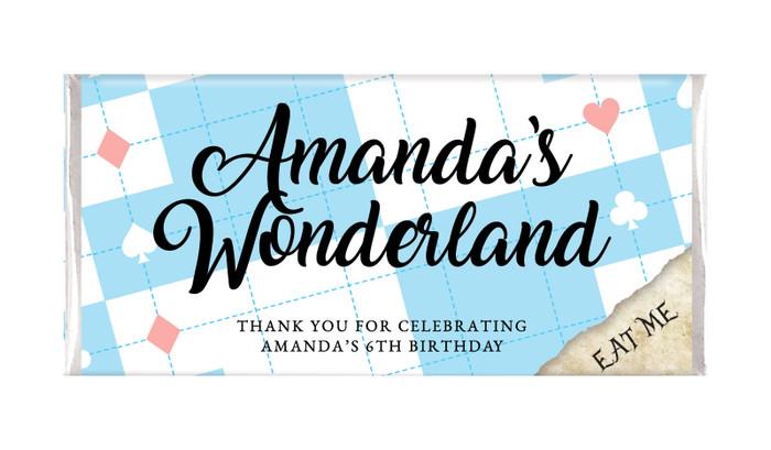 Alice In Wonderland Personalised Birthday Chocolate Bar