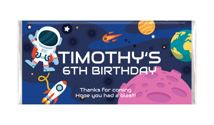 Astronaut Personalised Birthday Chocolate Bar