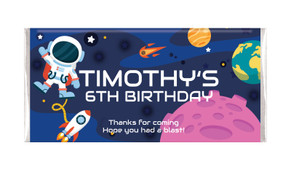 Astronaut Personalised Birthday Chocolate Bar