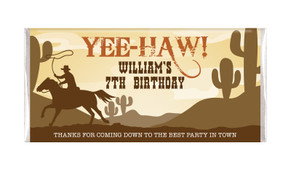 Cowboy Party Personalised Birthday Chocolate Bar