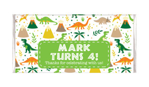 Dinosaur Background Personalised Birthday Chocolate Bar