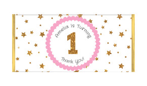 Gold Stars Personalised Birthday Chocolate Bar