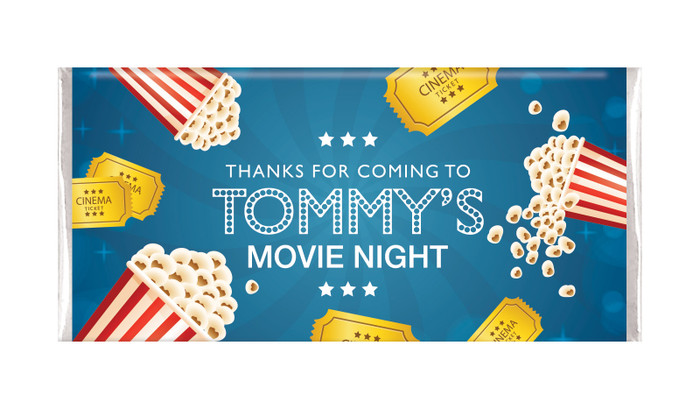 Movie Night Personalised Birthday Chocolate Bars