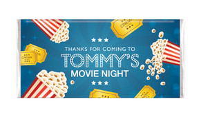 Movie Night Personalised Birthday Chocolate Bars