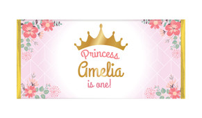 Princess Tiara Personalised Birthday Chocolate Bars