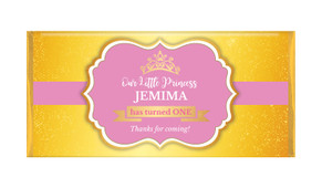 Little Princess Personalised Birthday Chocolate Bar