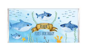 Shark Family Personalised Birthday Chocolate Bars