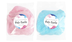 Mixed Watercolour Baby Shower Personalised Bags Of Fairy Floss
