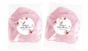Cherry Blossoms Baby Shower Personalised Bags Of Fairy Floss