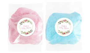 Floral Hexagons Baby Shower Custom Bags Of Fairy Floss