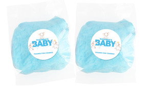 Curious Elephants On Blue Baby Shower Bags Of Fairy Floss