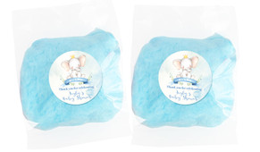Sitting Elephant Blue Baby Shower Custom Bags Of Fairy Floss