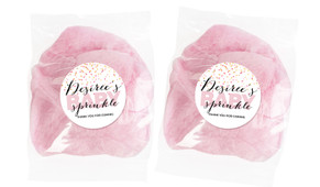 Sprinkle Confetti Pink Baby Shower Custom Bags Of Fairy Floss