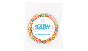 Curious Elephants Blue Baby Shower Giant Chocolate Freckle