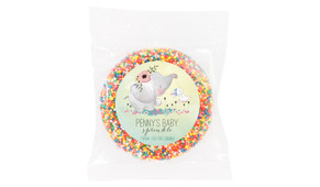 Elephant And Friend Baby Shower Giant Chocolate Freckle