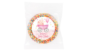 Pram In Pink Baby Shower Giant Chocolate Freckle