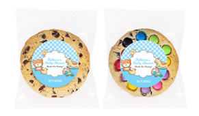 Baby Toys On Blue Personalised Cookie