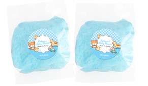Baby Toys On Blue Baby Shower Custom Bags Of Fairy Floss