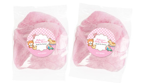 Baby Toys On Pink Baby Shower Custom Bags Of Fairy Floss