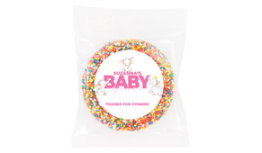 Curious Elephants Pink Baby Shower Giant Chocolate Freckle