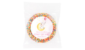 Elephant Moon Pink Baby Shower Giant Chocolate Freckle