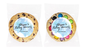 A Splash Of Watercolour Blue Personalised Cookie