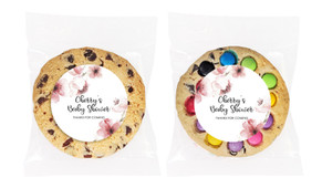 Cherry Blossoms Baby Shower Personalised Cookie