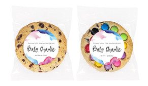 Mixed Water Colour Baby Shower Giant Cookie