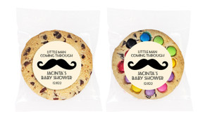 Moustache Of A Little Man Baby Shower Cookie