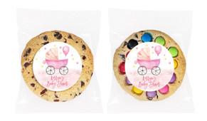 Pram In Pink Baby Shower Cookie