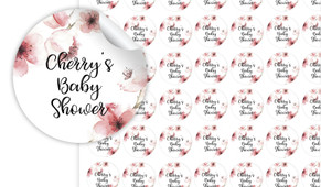 Cherry Blossoms Baby Shower Personalised 25mm Labels