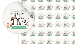Little Critters Baby Shower Personalised 25mm Labels