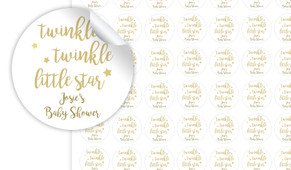Twinkle Twinkle Personalised 25mm Labels