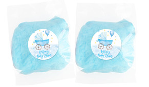 Pram In Blue Baby Shower Custom Bags Of Fairy Floss