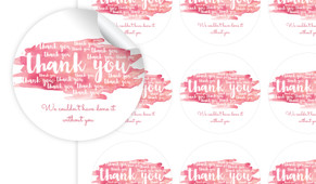 Many Thank Yous Personalised 65mm Labels
