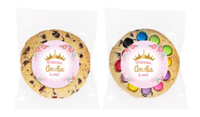 Princess Tiara Personalised Birthday Cookie